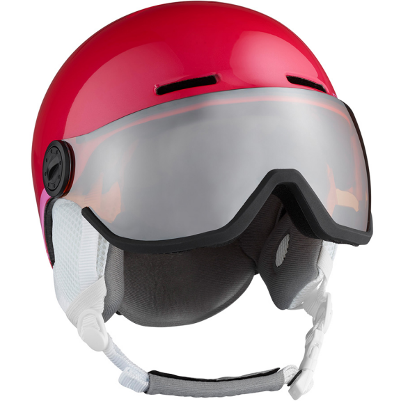 Casco Esquí Salomon Grom Visor rosa junior