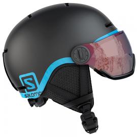 Casco esquí Salomon Grom Visor negro junior