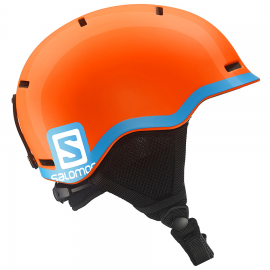 Casco esquí Salomon Grom Jr naranja azul junior