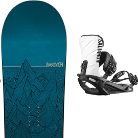 Pack snow Salomon Sight + Rhythm negro blanco hombre