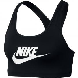 Sujetador deportivo Nike Swoosh futura negro/blanco mujer