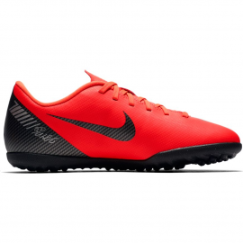 Zapatillas fútbol Nike Vapor 12 club Cr7 tf rojo niño