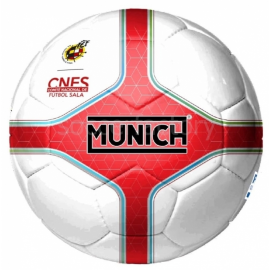 Balón fútbol sala Munich Hera indoor blanco