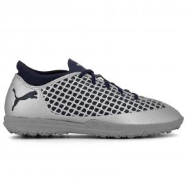 Zapatillas fútbol Puma Future 2.4 TT plata/marino junior
