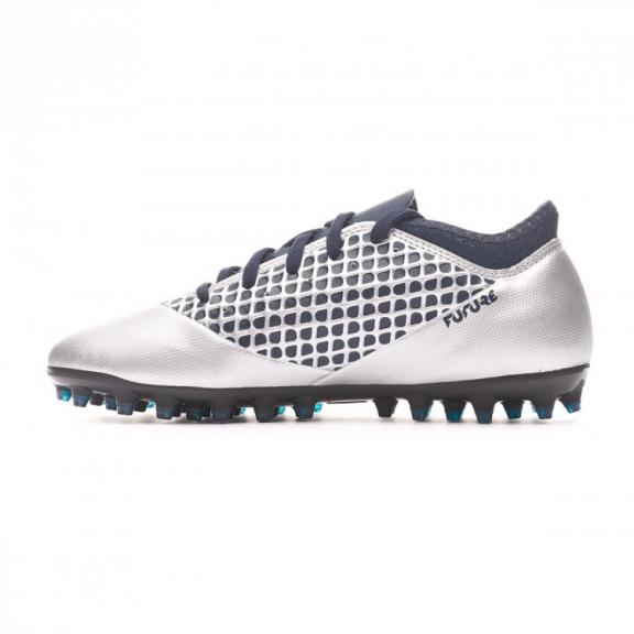 8c7018cd4bec4 Zapatillas fútbol Puma Future 2.4 MG plata marino junior