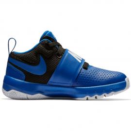 Zapatillas baloncesto Nike Team Hustle D8 azul/negro niño