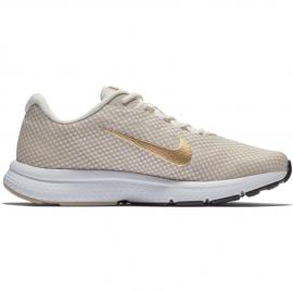 Zapatillas running Nike Runallday beige/dorado mujer
