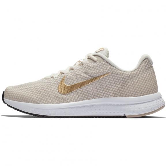 7a0d136cee226 Zapatillas running Nike Runallday beige dorado mujer - Deportes Moya