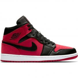 Zapatillas Nike Air Jordan 1 Mid (GS) rojo/negro junior