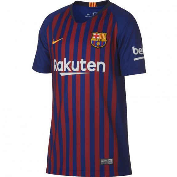 Camiseta fútbol Nike FC Barcelona 2018 19 azulgrana niño - Deportes Moya 7b659eecee070