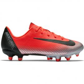 Zapatillas fútbol Nike Vapor 12 ps CR7 FG/MG roja niño