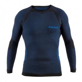 Camiseta térmica Land Bulnes manga larga negro/azul hombre