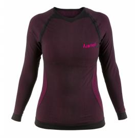 Camiseta térmica Land Veleta negro/fucsia mujer