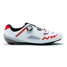 Zapatillas Northwave Core plus blanco-rojo road hombre