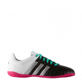 Zapatillas fútbol adidas Ace 15.4 In J blanco negro junior