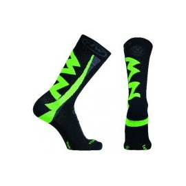 Calcetines altos Northwave Extreme Winter negro-verde