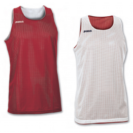 Camiseta baloncesto Joma Aro reversible rojo/blanco unisex