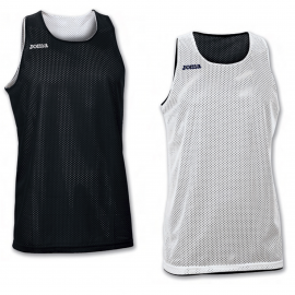 Camiseta baloncesto Joma Aro reversible blanco/negro junior