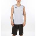 Camiseta baloncesto Joma Aro reversible blanco/negro junior