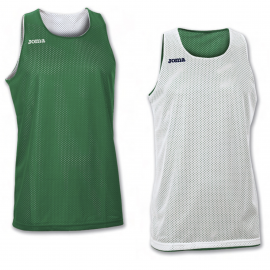 Camiseta baloncesto Joma Aro reversible verde/blanco junior