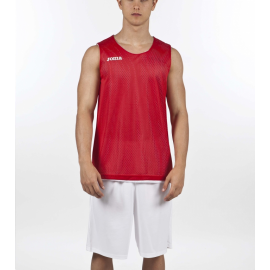 Camiseta baloncesto Joma Aro reversible rojo/blanco junior