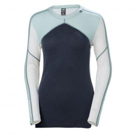 Camiseta térmica Helly Hansen Lifa Merino Crew azul mujer