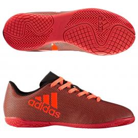 Botas de futbol adidas X 17.4 In J rojo/negro niño/a