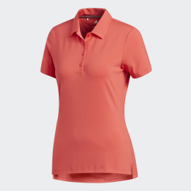 Polo golf adidas Ultimate 365 m/c coral mujer