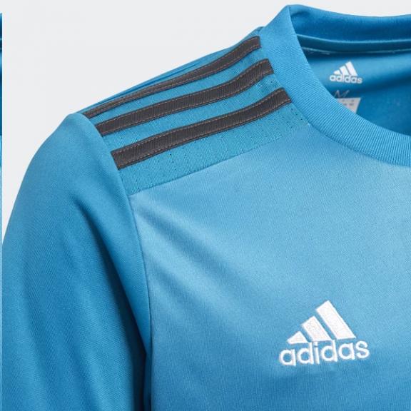 Camiseta Adidas Real Madrid 3ª Equipación Azul Niño - Deportes Moya c03f111f5bb9f