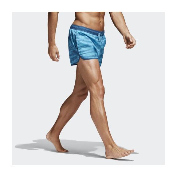 37a856b3d Bañador Adidas Allover Print Azul Hombre - Deportes Moya