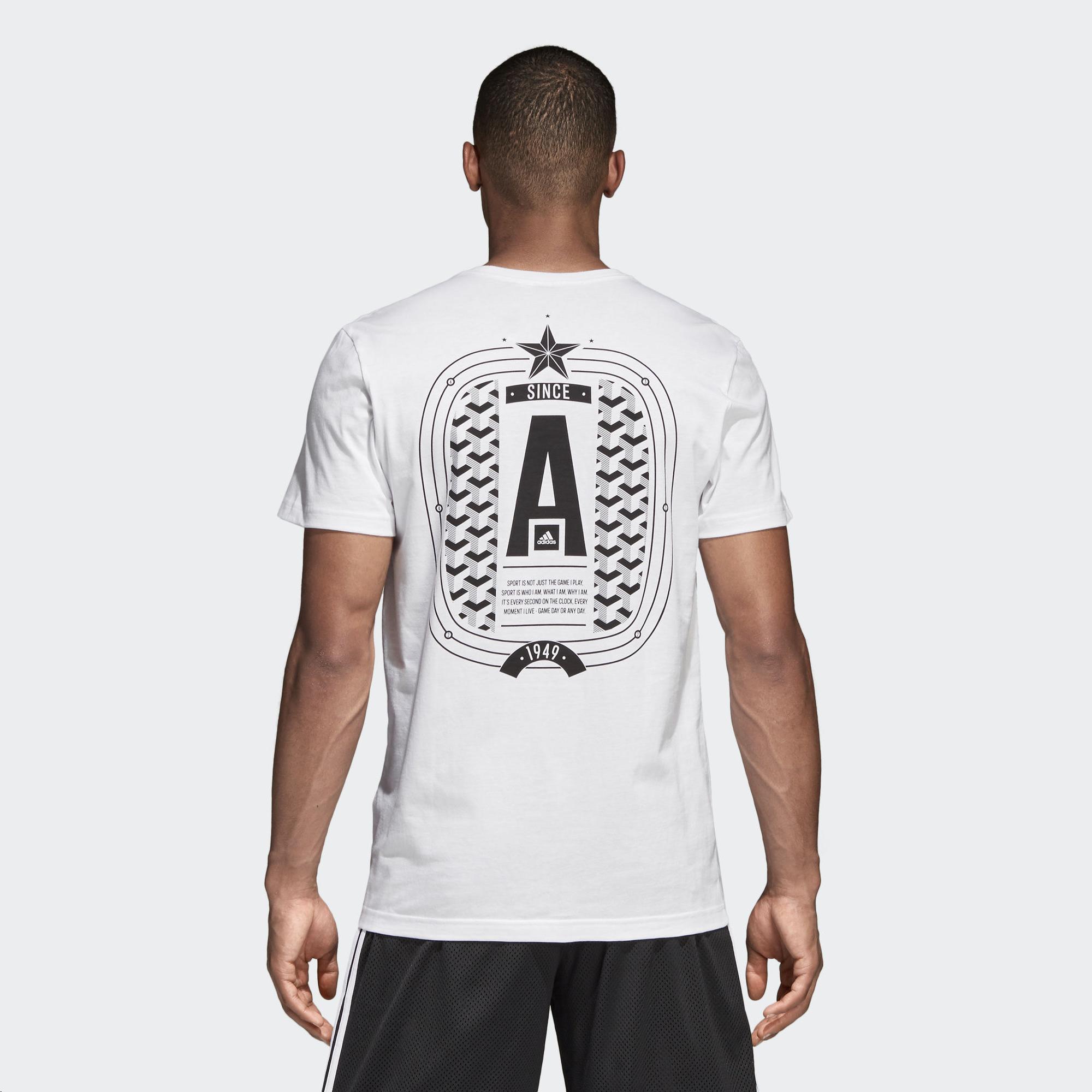 separation shoes 70286 9132d Camiseta Adidas Stadium Tee Blanco Hombre - Deportes Moya