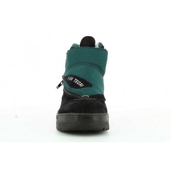 Botas trekking Kan Tegri negro/verde hombre