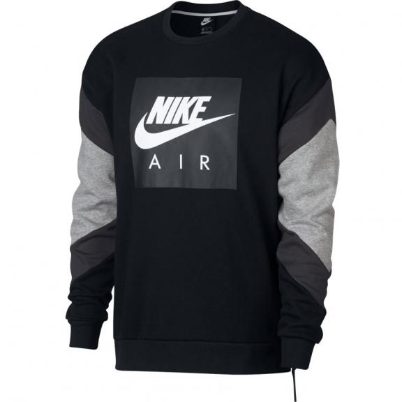 Sudadera Nike Sportwear Air Crew negro hombre Deportes Moya