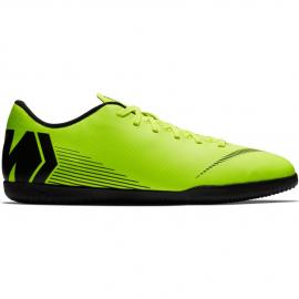 Botas de fútbol Nike Vapor 12 Club IC fluor hombre