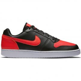 Zapatillas Nike Ebernon low negro/rojo hombre