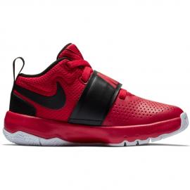 Zapatillas baloncesto Nike Team Hustle D 8 rojo/negro niño