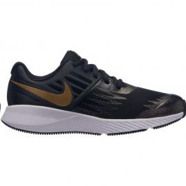 Zapatillas running Nike Star Runner negro/dorado niña