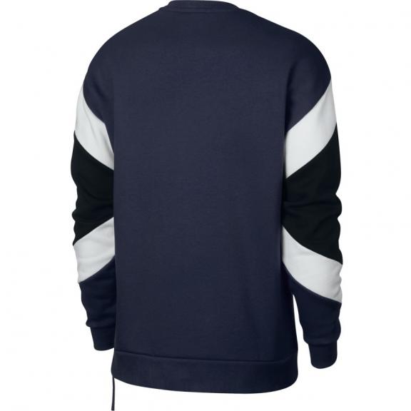 ff83e70dce07c Sudadera Nike Sportwear Air Crew fleece marino blanco hombre ...