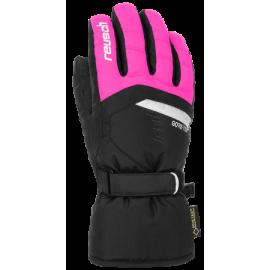 Guantes esquí Reusch Bolt Gtx negro rosa junior