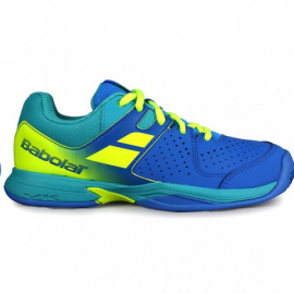 Zapatillas Padel Babolat Pulsion WPT azul/amarillo junior