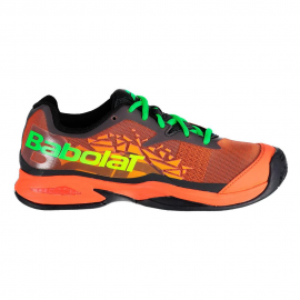 Zapatillas padel Babolat Jet Team padel azul/naranja junior