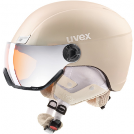 Casco esquí Uvex Hlmt 400 Visor Style prosecco mujer