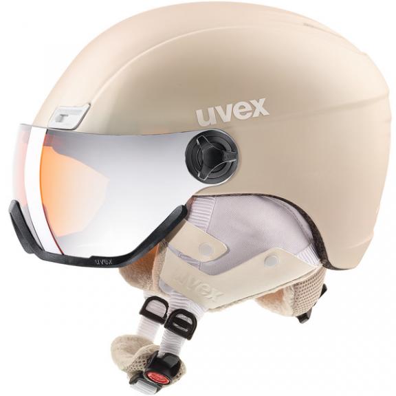 0ec2c3cb655 Casco esquí Uvex Hlmt 400 Visor Style prosecco mujer - Deportes Moya