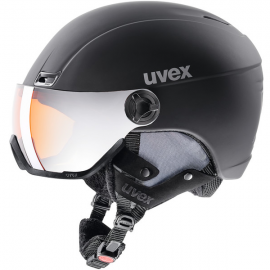 Casco esquí Uvex Hlmt 400 Visor Style negro mate hombre