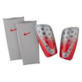 Espinilleras fútbol Nike Mercurial Lite gris/rojo hombre