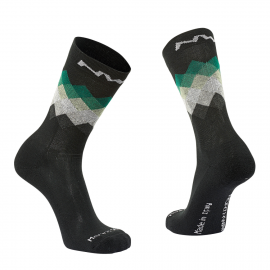 Calcetines altos Northwave Core negro-verde Forest
