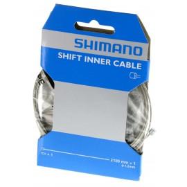 1 Cable de cambio Shimano 1,2x2100mm  acero Mtb-Carretera