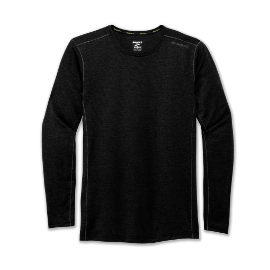 Camiseta running Brooks Ghost negra hombre