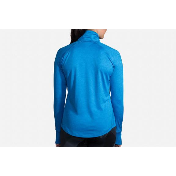 Camiseta running Brooks Dash 1/2 cremallera azul mujer