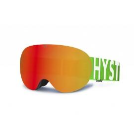 Mascara Hysteresis Rocket  negro lente rojo  cinta verde jr